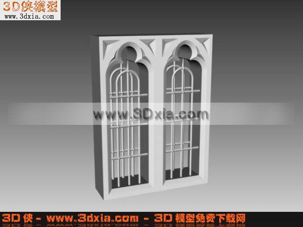 欧式窗框3d模型