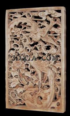 华丽的中式木雕3d模型下载