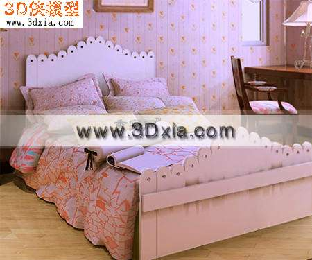 3d模型-欧式儿童床