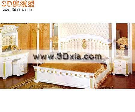 欧式儿童床3d模型渲染效果图片