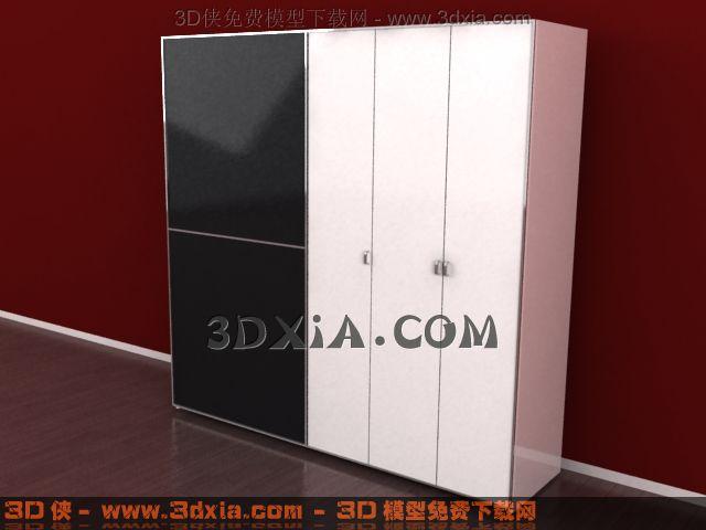 3d衣柜模型下载-12-使用版本3dmax8