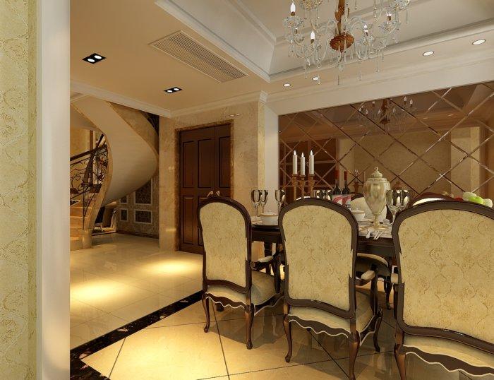 最新餐厅装修效果图3D模型高清图片