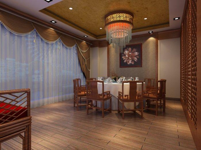 中式酒店包厢效果图高清图片