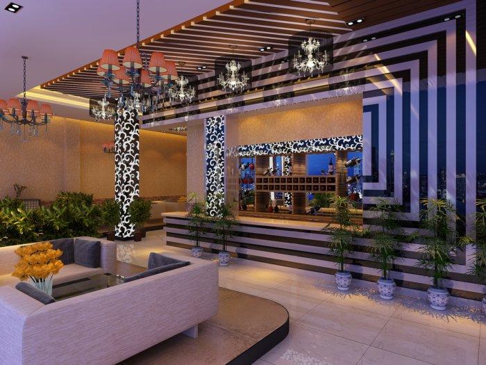 餐厅前台设计效果图