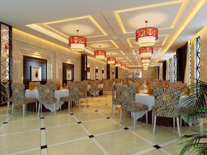餐厅装修3D效果图高清图片