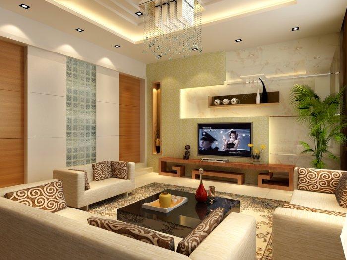 家居影视墙设计效果图