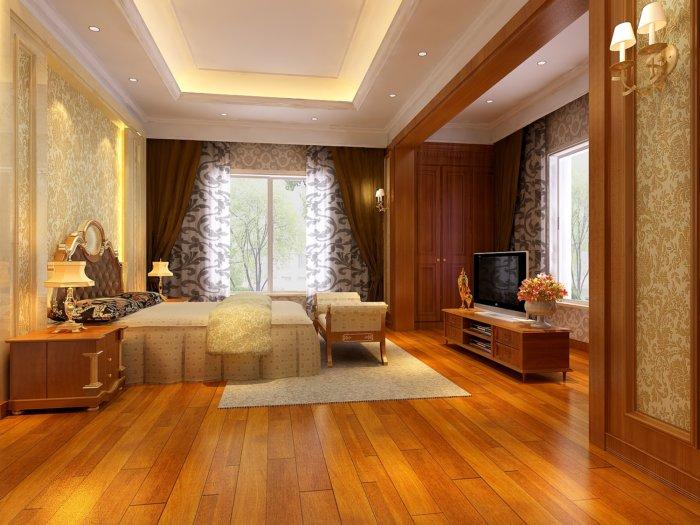 豪华欧式卧室装修图片渲染效果图片