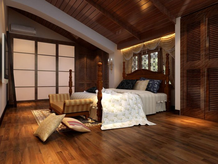 卧室半弧型吊顶效果图