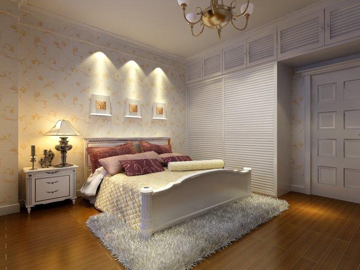 现代欧式卧室装修渲染效果图片